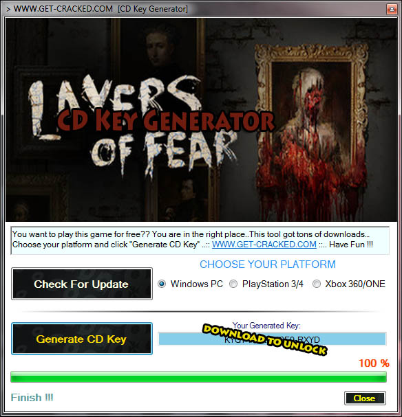 Layers of Fear free product code