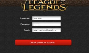 League of gineadóir cuntais Legends