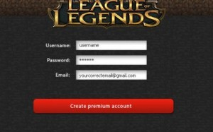 League of Legends účet generátor