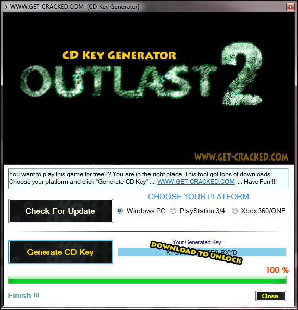 Outlast 2 free cd key tool 2015