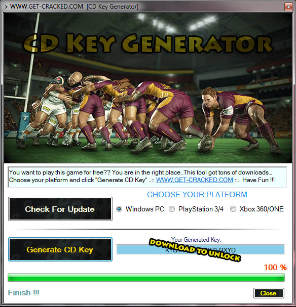 Download Rugby League Live Free CD Key Generator