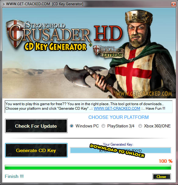 Stronghold Crusader free product code generator