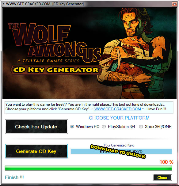 The Wolf Among Us Free CD Key Code (Keygen)