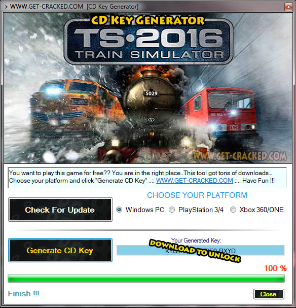 Train Simulator 2016 free product code generator