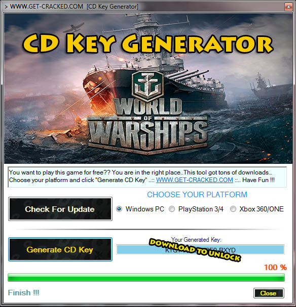 World of Warships free product code key