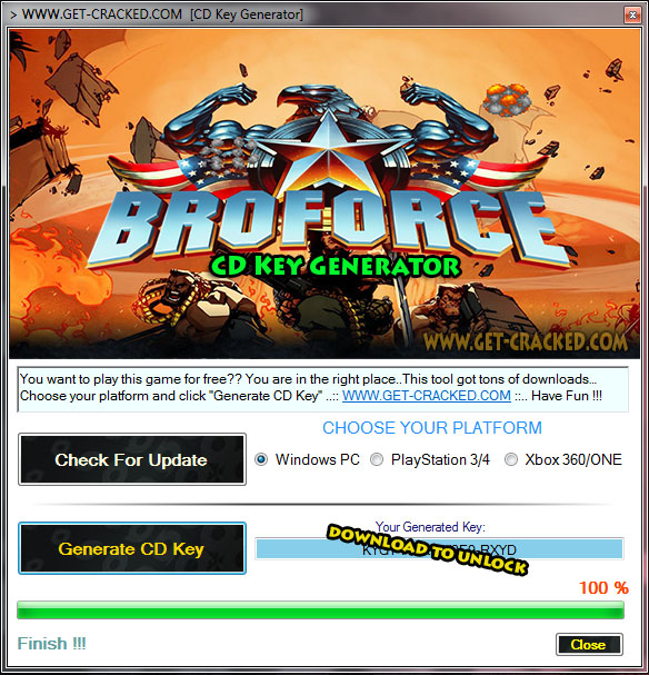 Broforce free product key generator