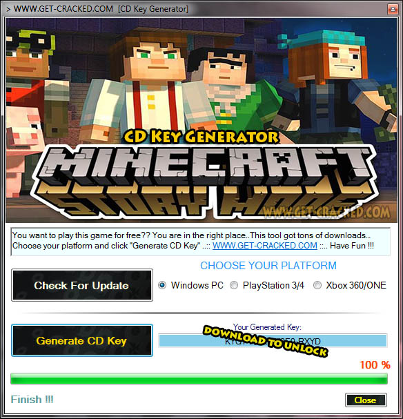Minecraft: Story Mode free cd key