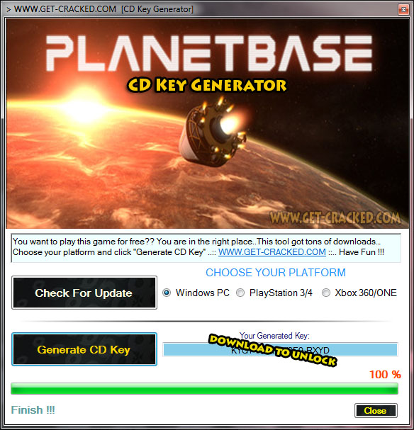 use our Planetbase key generator and play this game for free