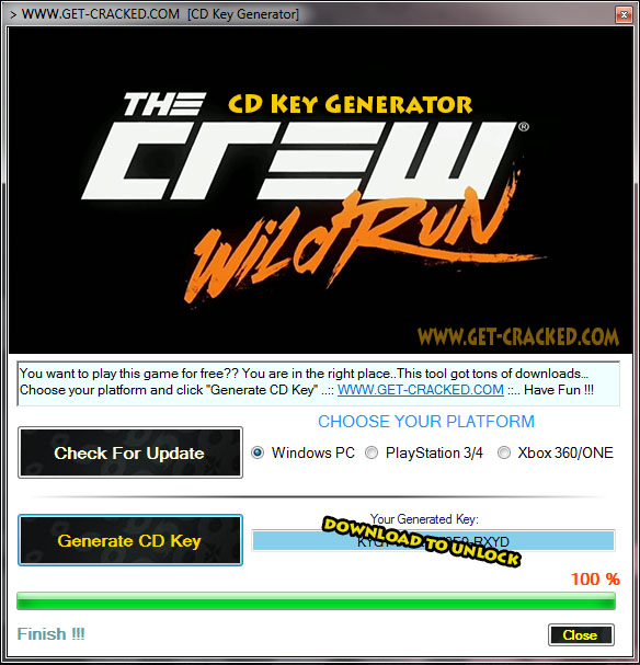 The Crew Wild Run Free Cd Key Generator Keygen Get