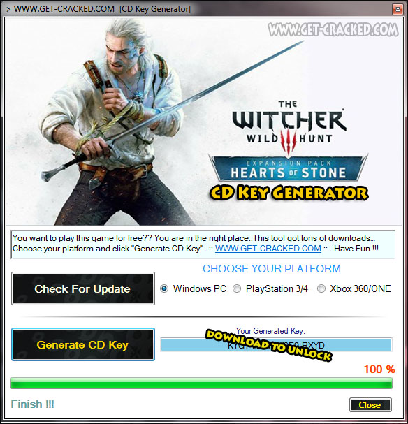 The Witcher 3: Hearts of Stone free cd key list