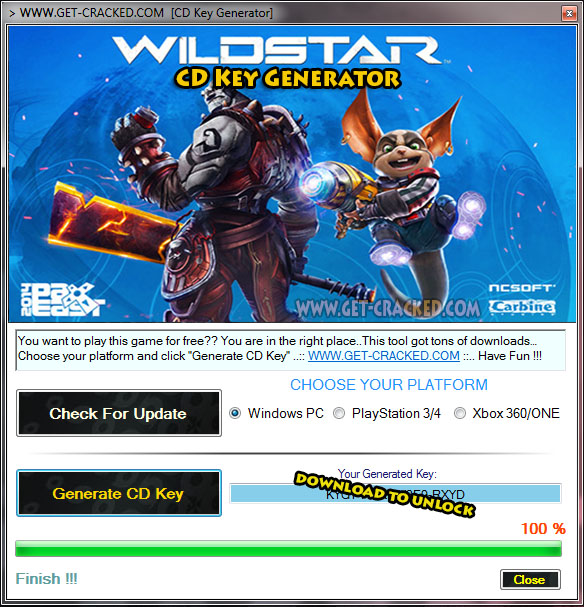 WildStar free activation keys