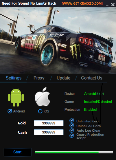 Need for Speed No Limits free cheats