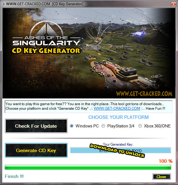 Ashes of the Singularity CD Key Generator