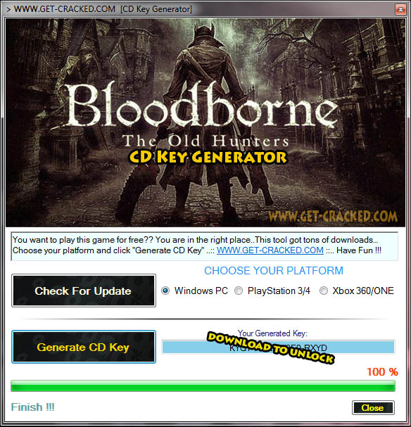Bloodborne The Old Hunters cd key giveaway