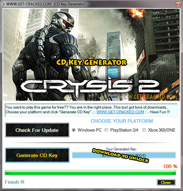 Crysis 2 za darmo cd key