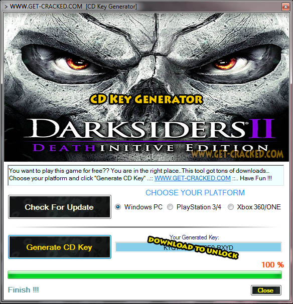 Darksiders II Deathinitive Edition cd chiave giveaway