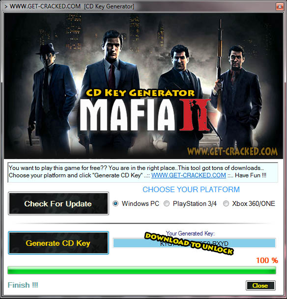 Mafia II free cd key giveaway