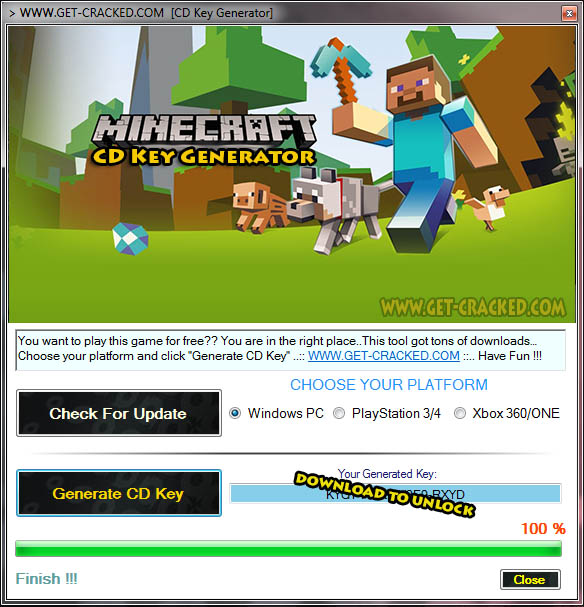 Minecraft free cd key giveaway