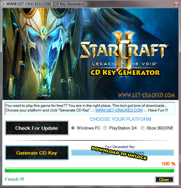StarCraft II Legacy of the Void CD Key Generator
