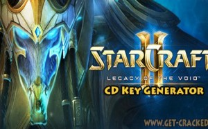 StarCraft II Legacy of the Void nyckel generera