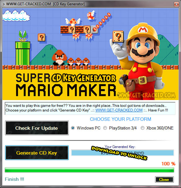 Super Mario Maker cd key giveaway