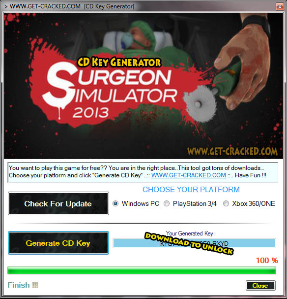 Surgeon Simulator cd key giveaway