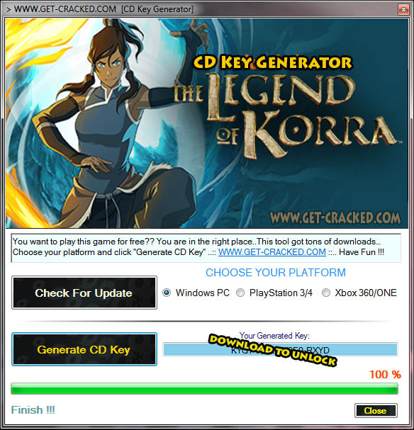 The Legend of Korra cd key giveaway