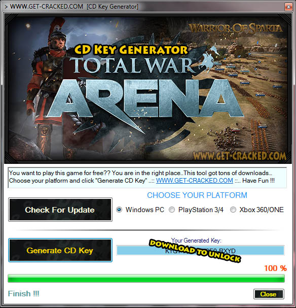 Total War Arena cd key giveaway