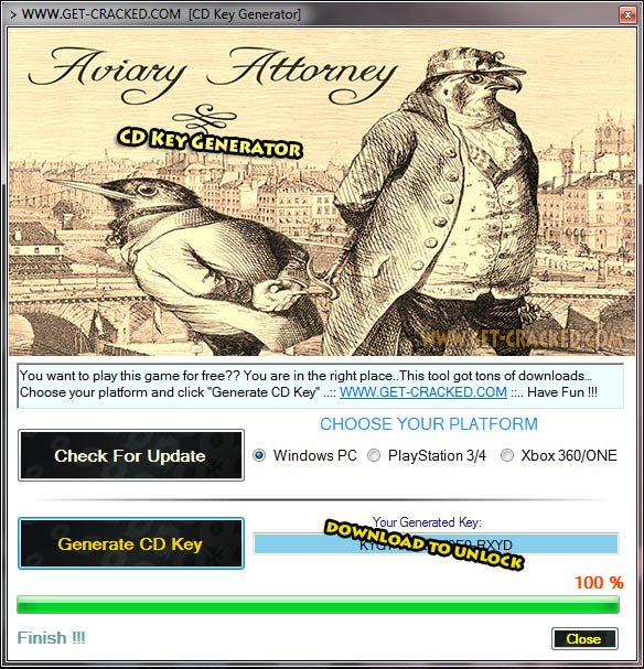 Aviary Attorney CD Key Giveaway