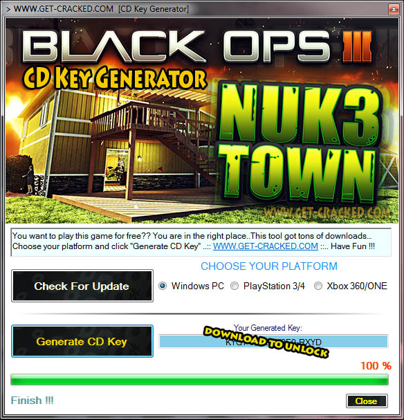Black Ops 3 Nuke Town CD Key giveaway