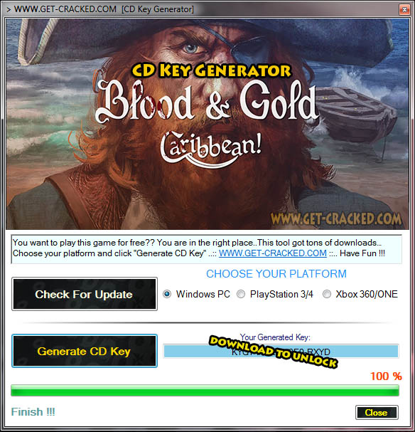 Blood & Gold Caribbean cd key giveaway