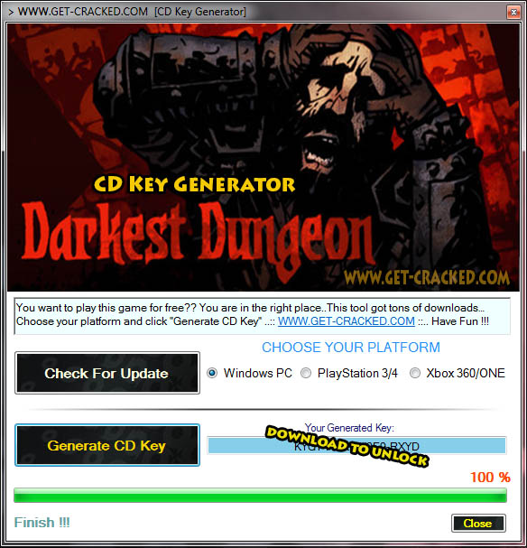 Darkest Dungeon CD Key giveaway