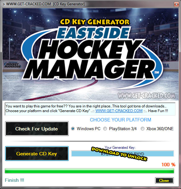 Eastside Hockey Manager cd nyckel giveaway