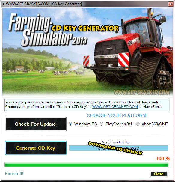 Farming Simulator 2013 ledig cd nøkkel giveaway