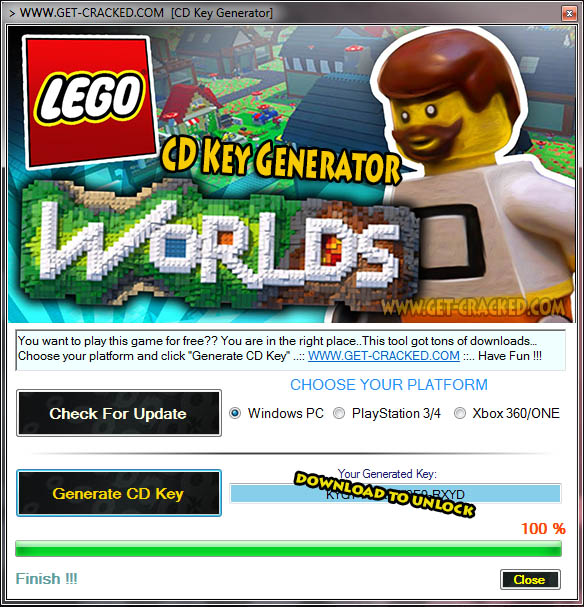 LEGO Worlds cd key giveaway