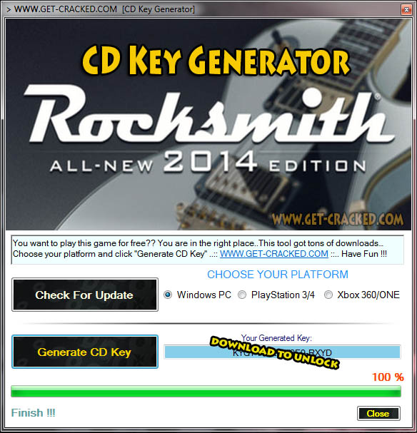 Rocksmith 2014 Sorteio de CD Key