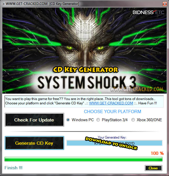 System Shock 3 cd key giveaway