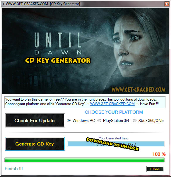 Until Dawn free cd key giveaway