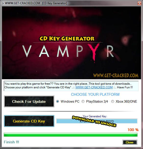 Vampyr free cd key giveaway