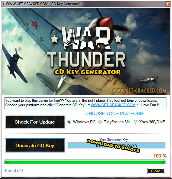 War Thunder cd key giveaway