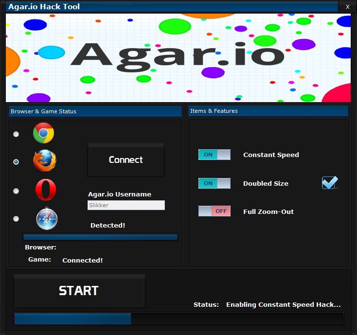Agar.io speed hack tool 2016