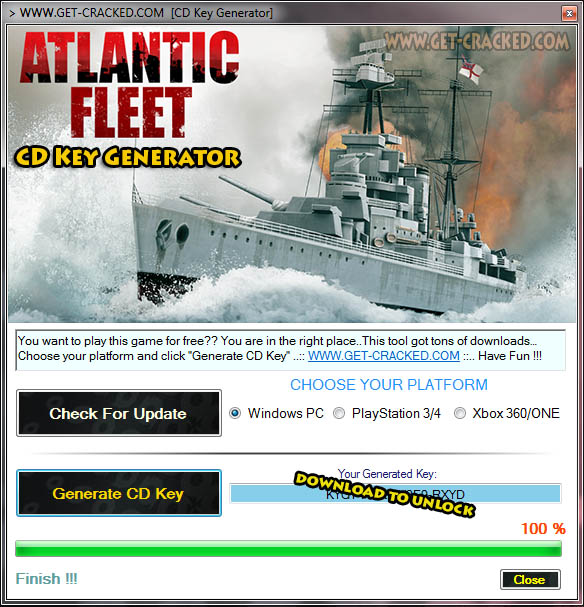 Atlantic Fleet CD Key Generator 2016