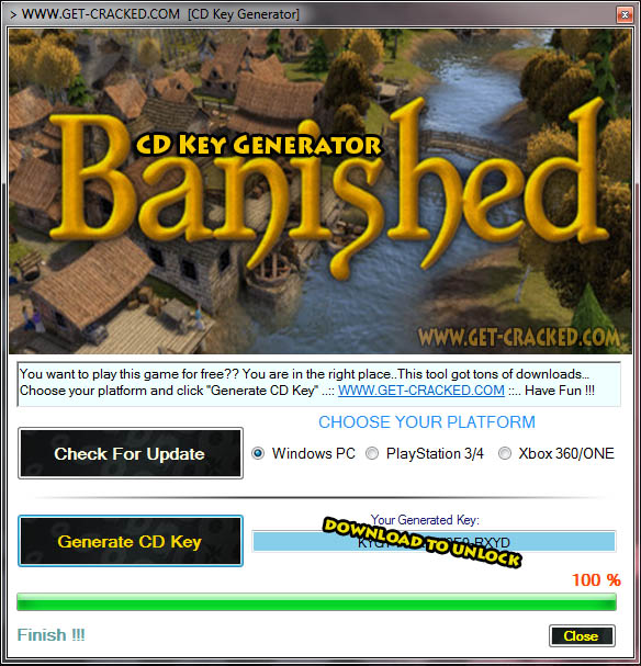 Banished cd key giveaway
