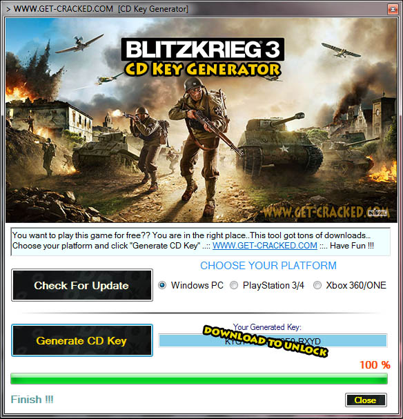Blitzkrieg 3 cd key giveaway