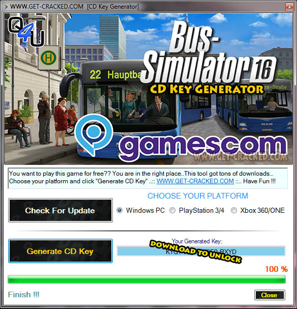 Bus Simulator 16 free cd key giveaway