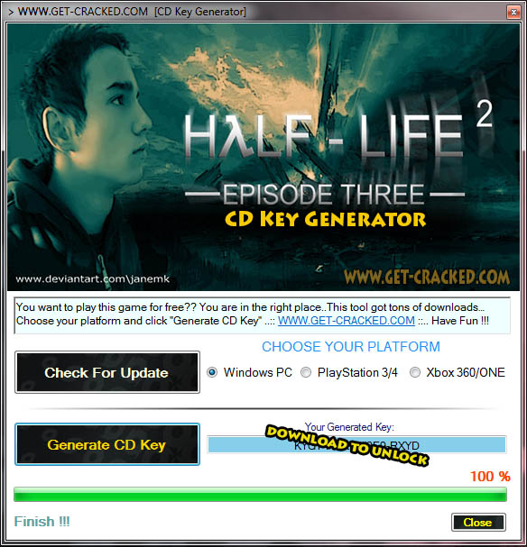 Half-Life 2 Episode Three cd key giveaway