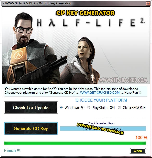 Half-Life 2 cd key giveaway