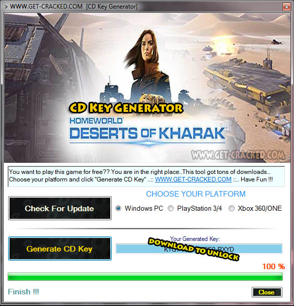 Homeworld Deserts of Kharak Key Generator