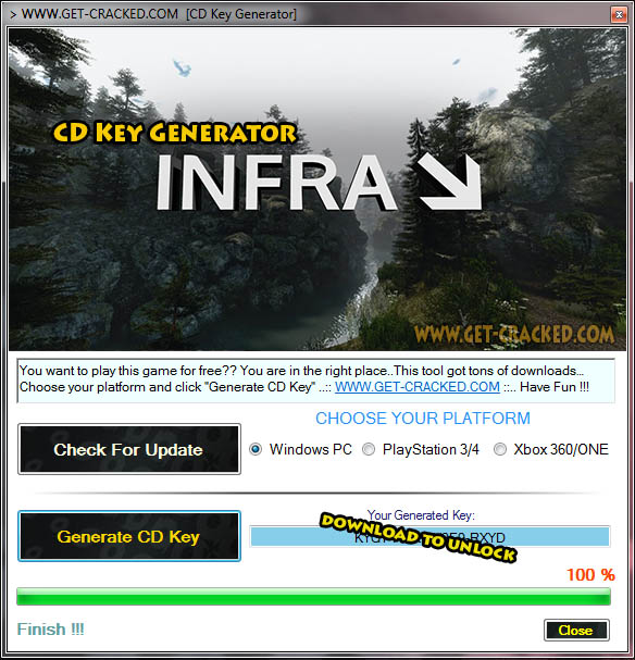 INFRA CD Key Generator 2016