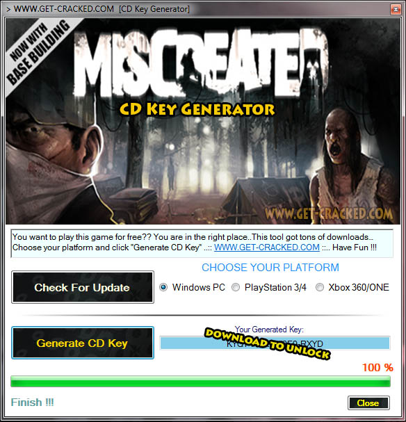 Giveaway chiave cd miscreated